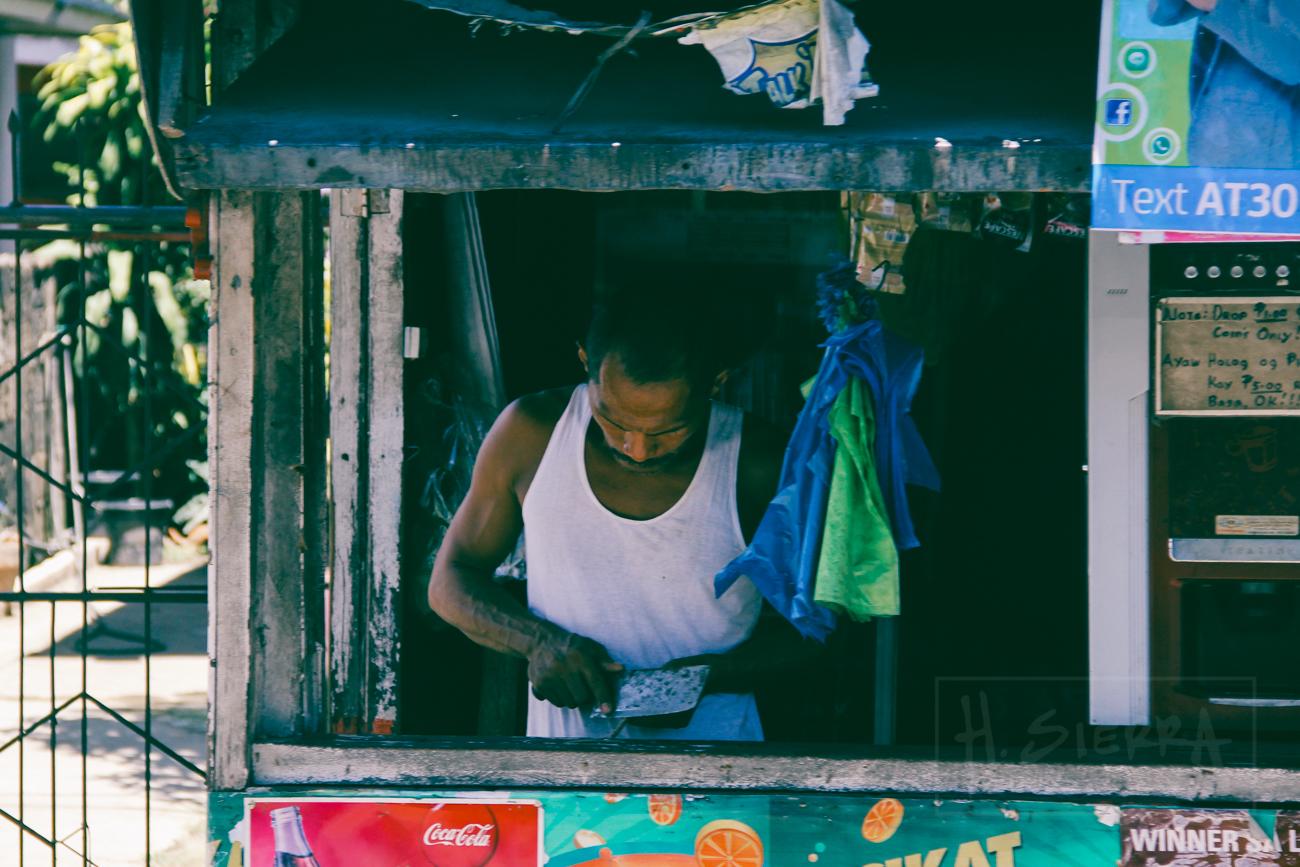 Man working (Cebu, Philippines)
