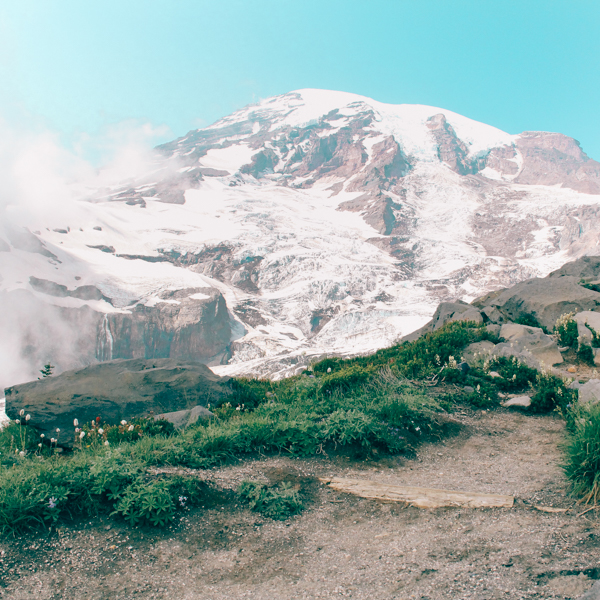 Wow. I saw Mount Rainier.