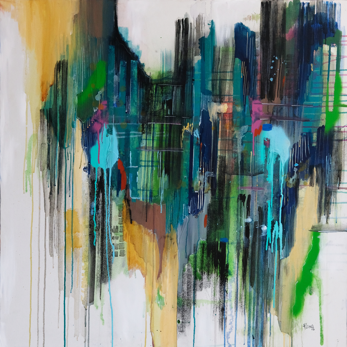 Movement in the City in Green No.2