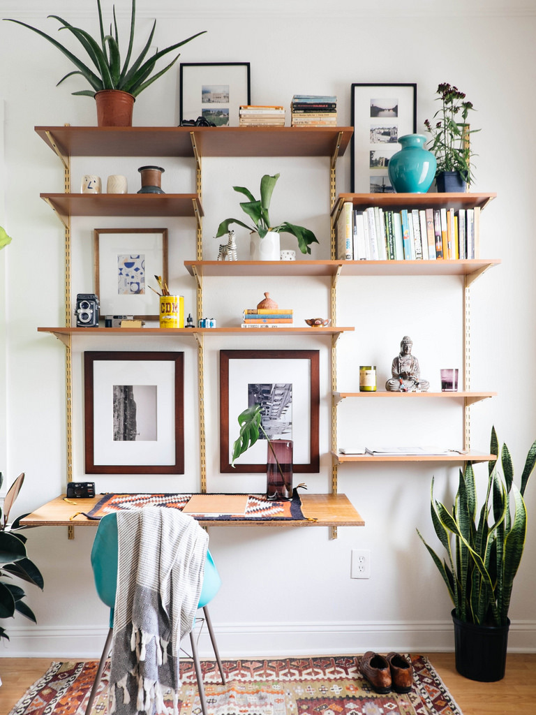 DIY Mid Century Desk Wall Unit — OLD BRAND NEW