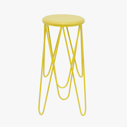 Yellow plant stand