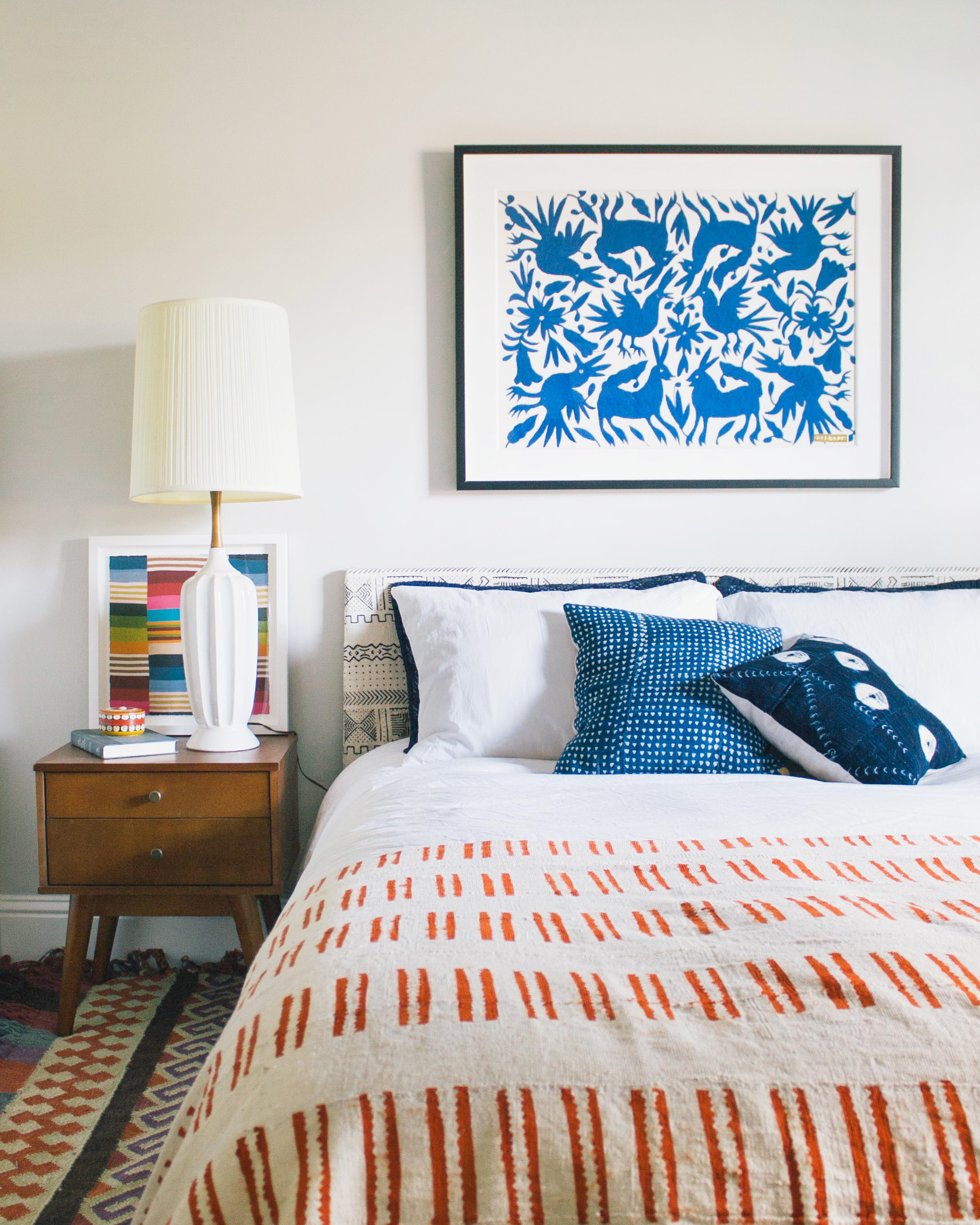 OLD BRAND NEW • SPICE UP YOUR BEDROOM WITH ART AND TEXTILES FROM ST. FRANK