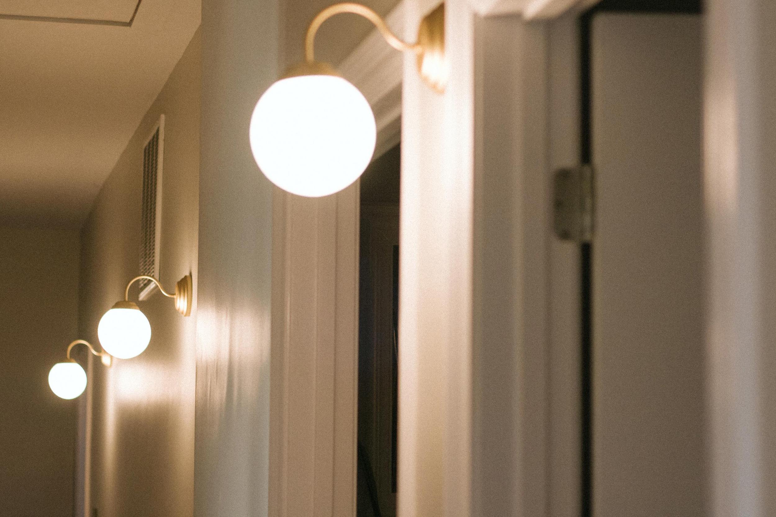 BEFORE + AFTER •HALLWAY LIGHTING • IKEA LILLHOLMEN SCONCE