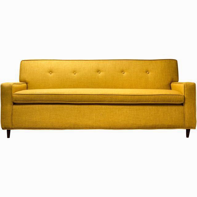Yellow Tufted Sofa