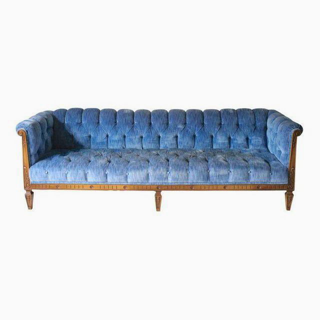 Blue Chesterfield