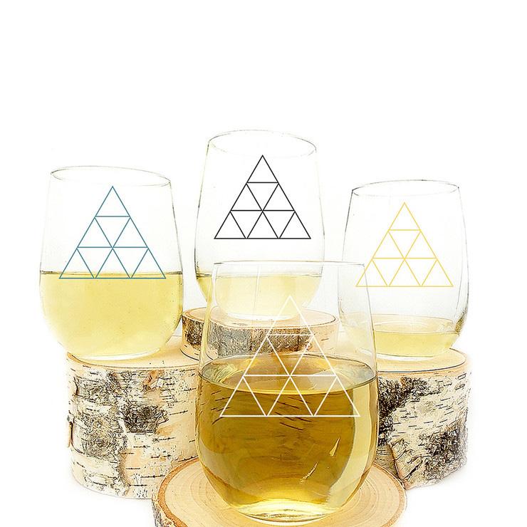 Crawlspace Triangle Wine Glass