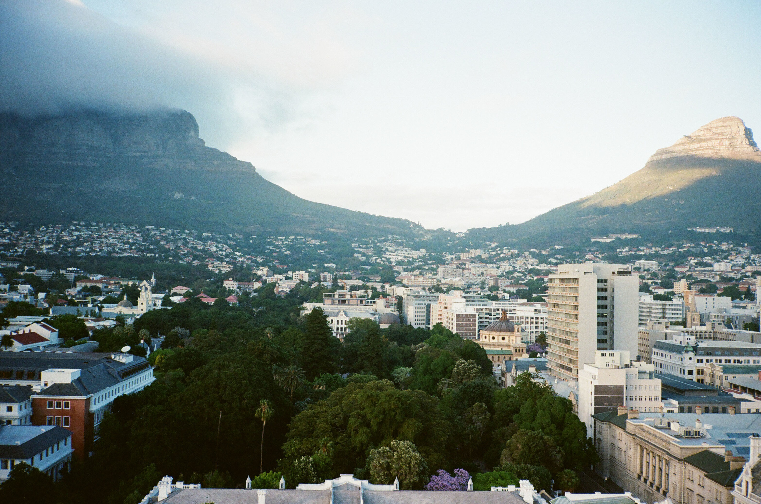 View of Table Mountain from the Taj Hotel.
