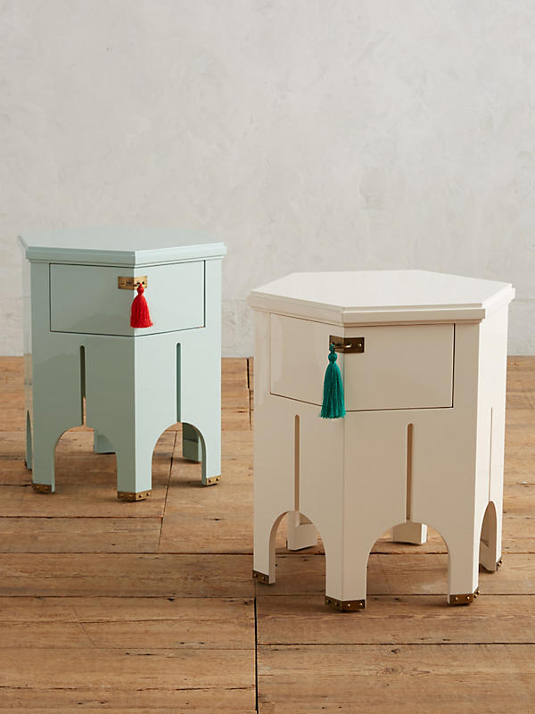TASSELED ARCHWAY SIDE TABLE