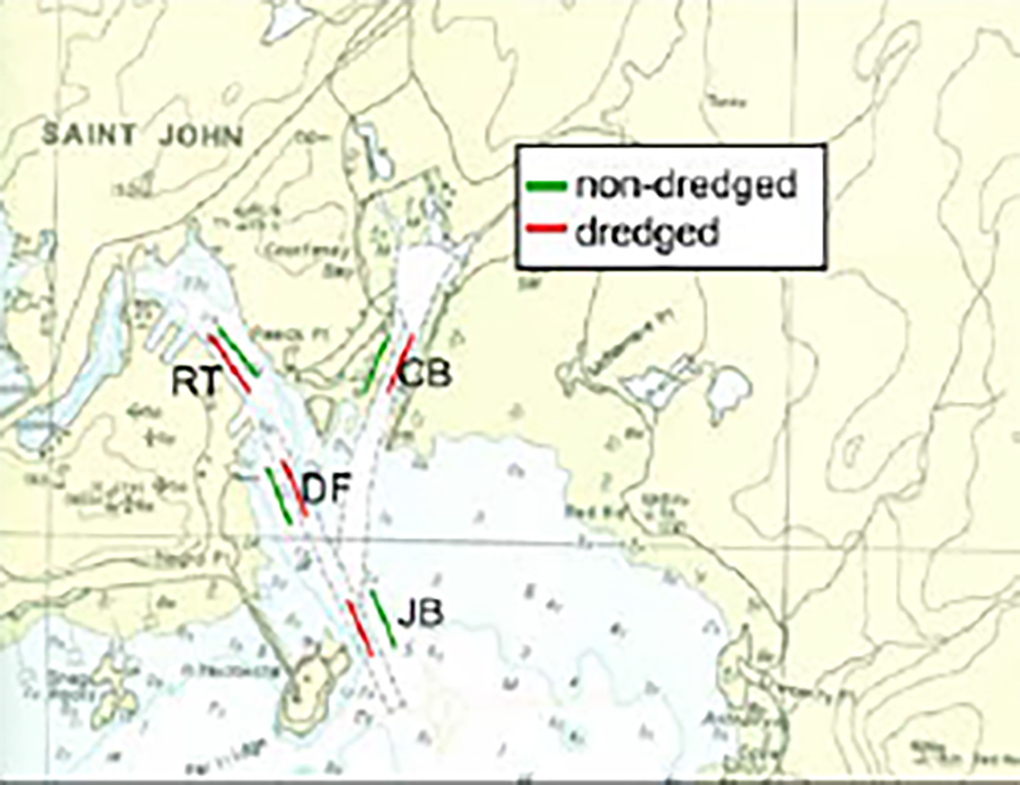Dredging in the Saint John Harbour is required to maintain adequate shipping channels