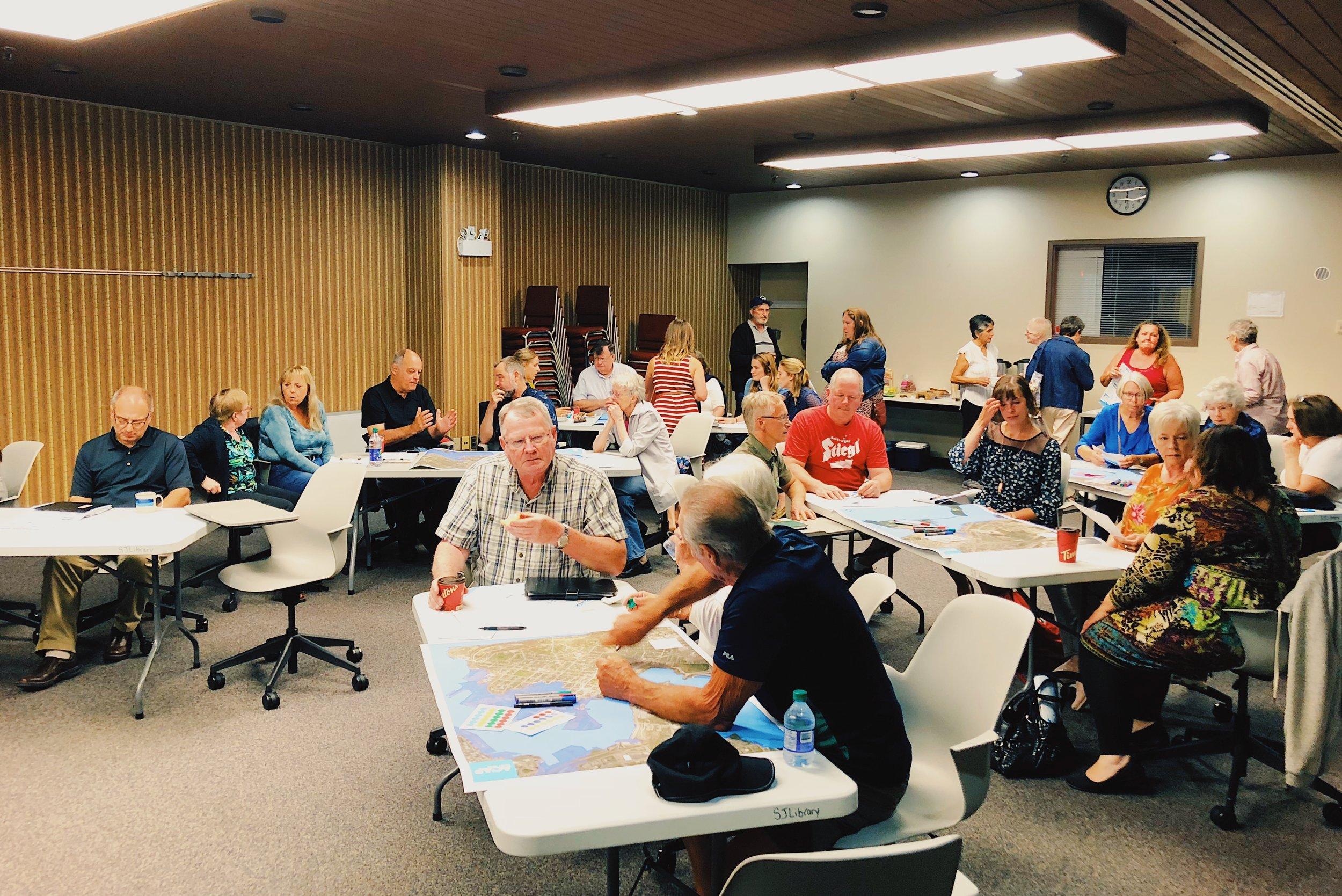 Workshop participants discuss sea level rise in Saint John.