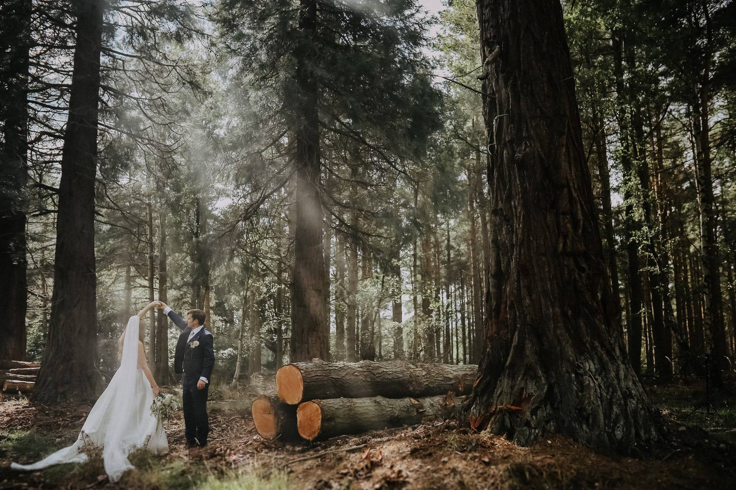 I found this spot and as the light peaked through the trees I asked Kristofer and Ashley to have a chat about their day and what happened next was magical!
