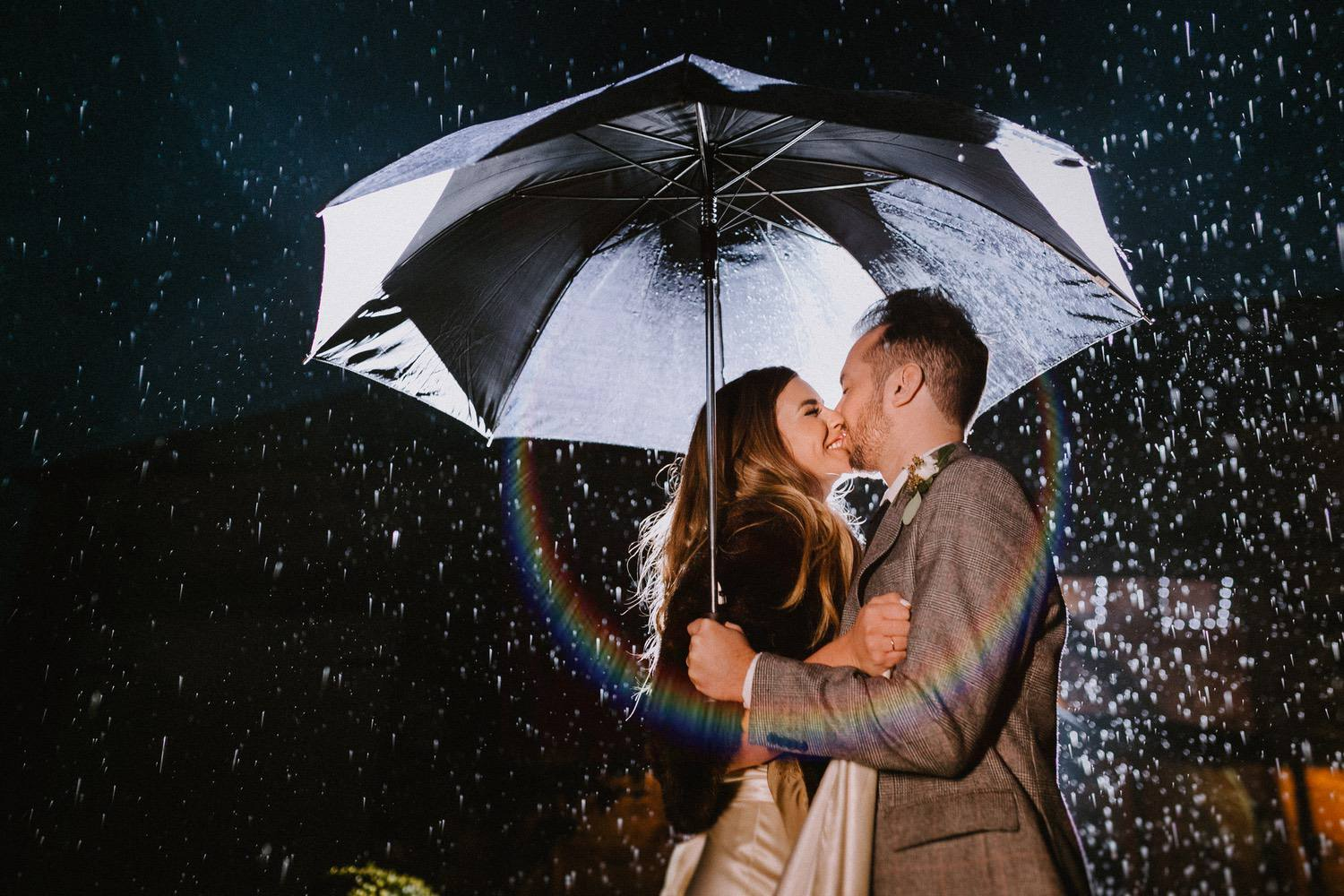 Even if it rains all day we can stand in the doorway and have some fun. Emma + Chris - Healey Barn, Northumberland.