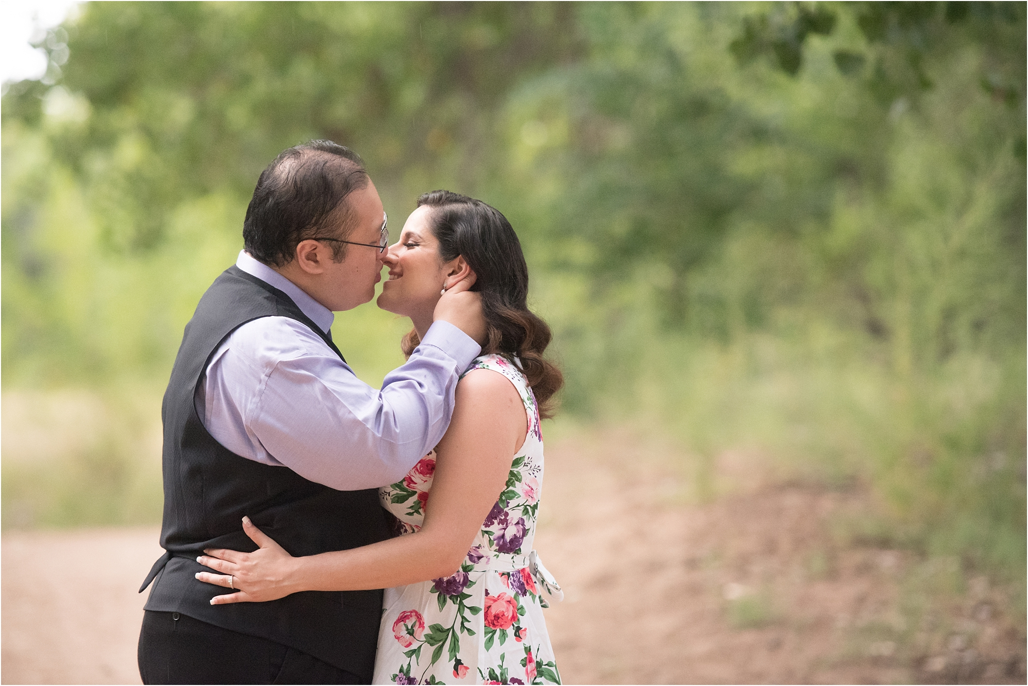 albuquerque wedding photographer, bosque engagement session, floral engagement dress, lavender and rose hair and makeup, engagement hair and makeup, new mexico wedding photographer