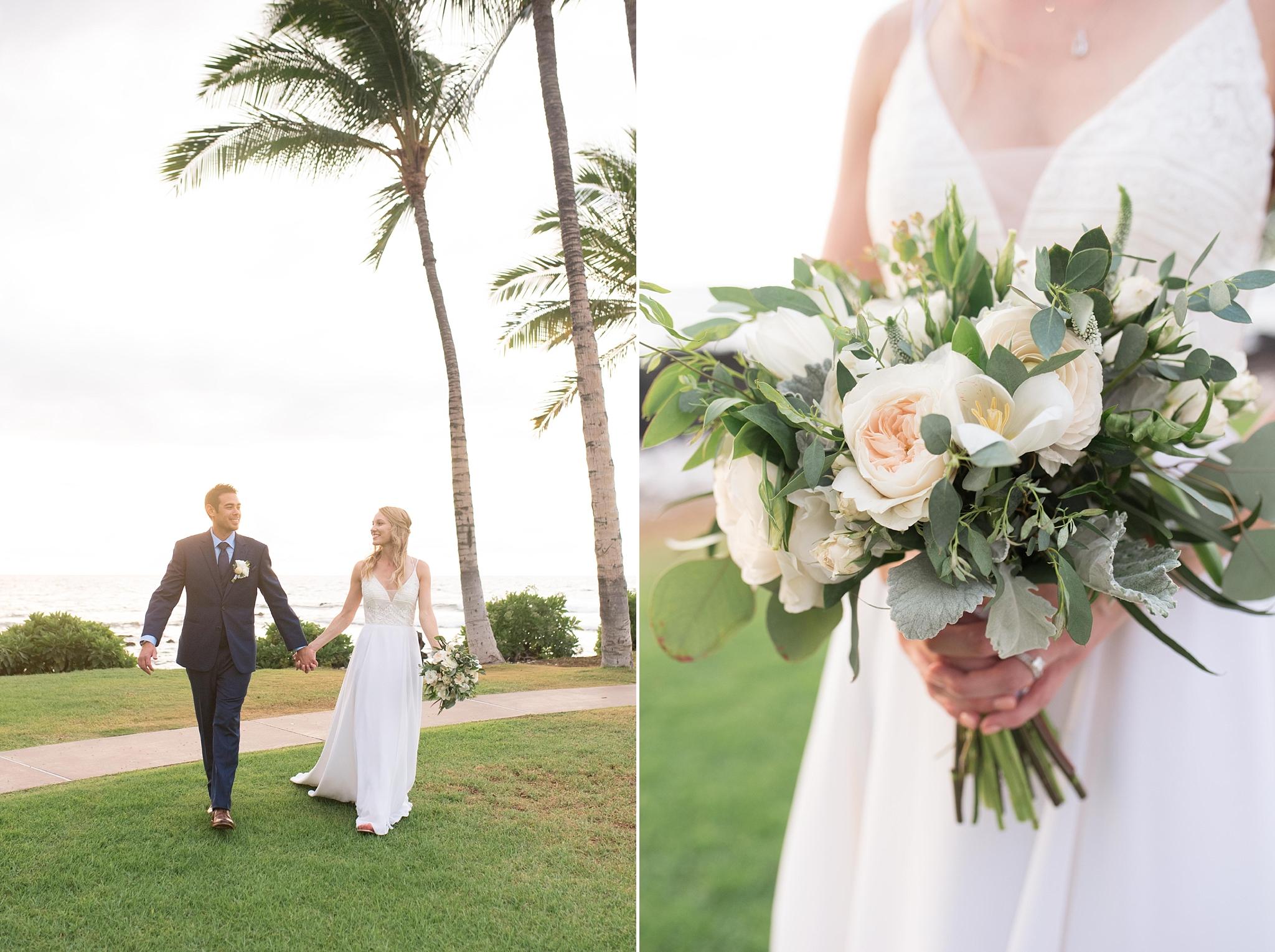 fairmont orchid kona hawaii wedding destination photographer beach resort wedding grace flower suits unlimited dj tiger martha stewart weddings