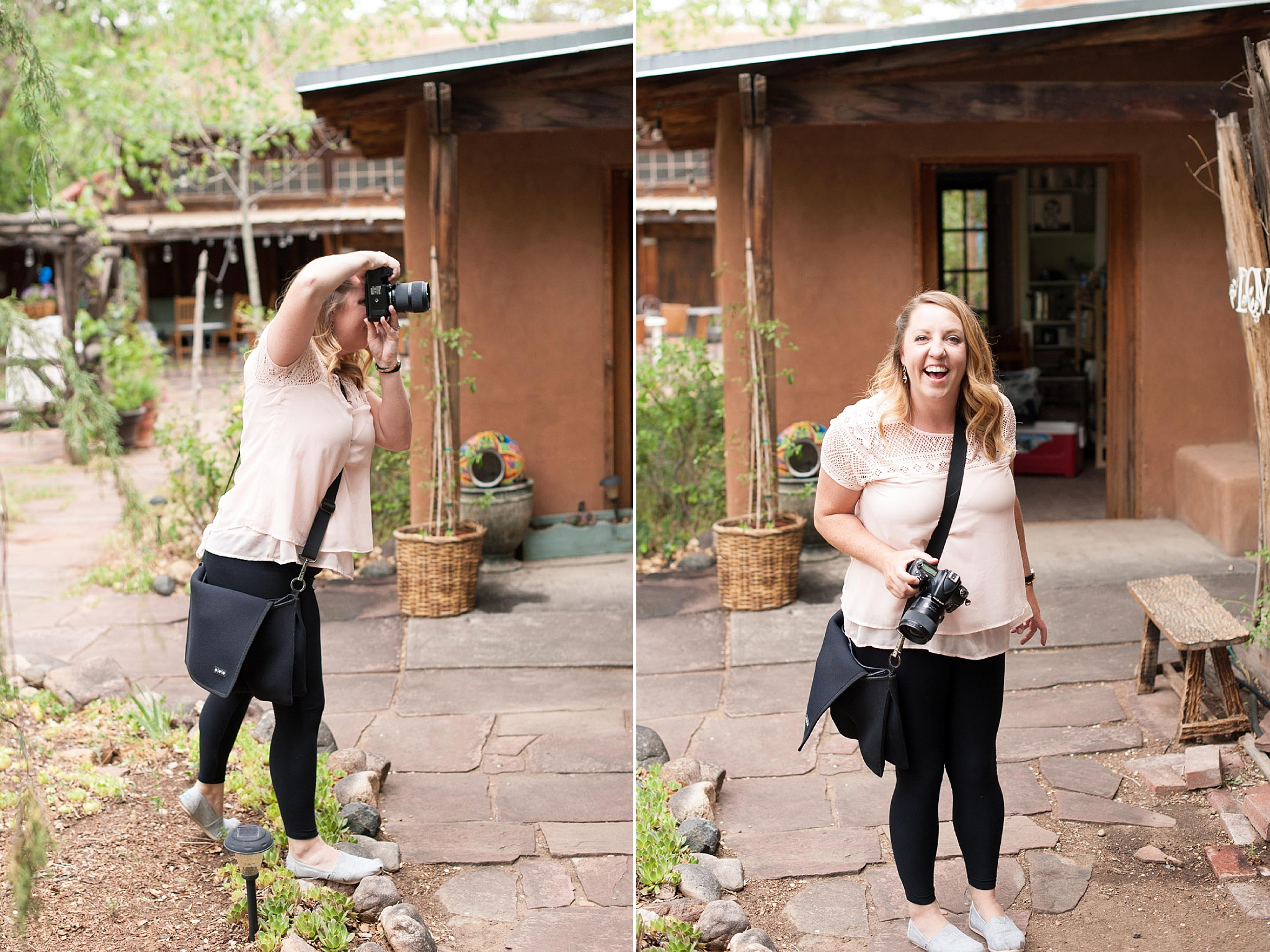 albuquerque wedding photographer inn of the turquoise bear santa fe best venue outdoor ceremony behind the scenes kayla kitts summer