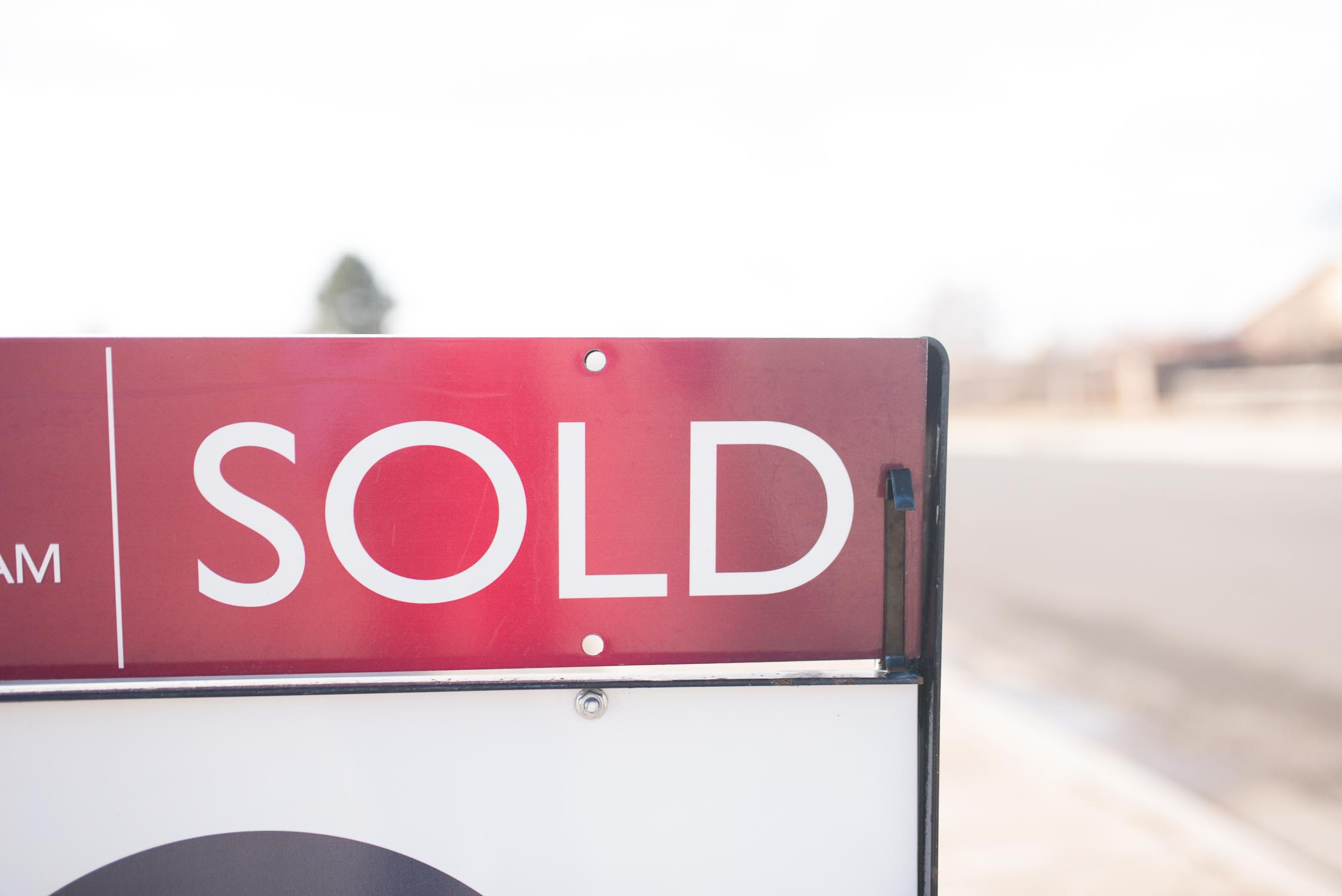 The Sold Sign for The House Saga for Kayla Kitts Photography.