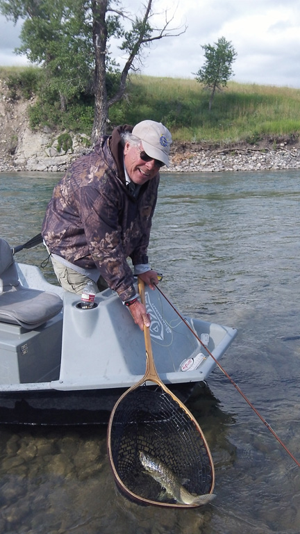 A nice Waterton River brown taken on a dry fly