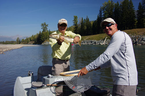 This is what it's all about! Good times and good fish with friends.