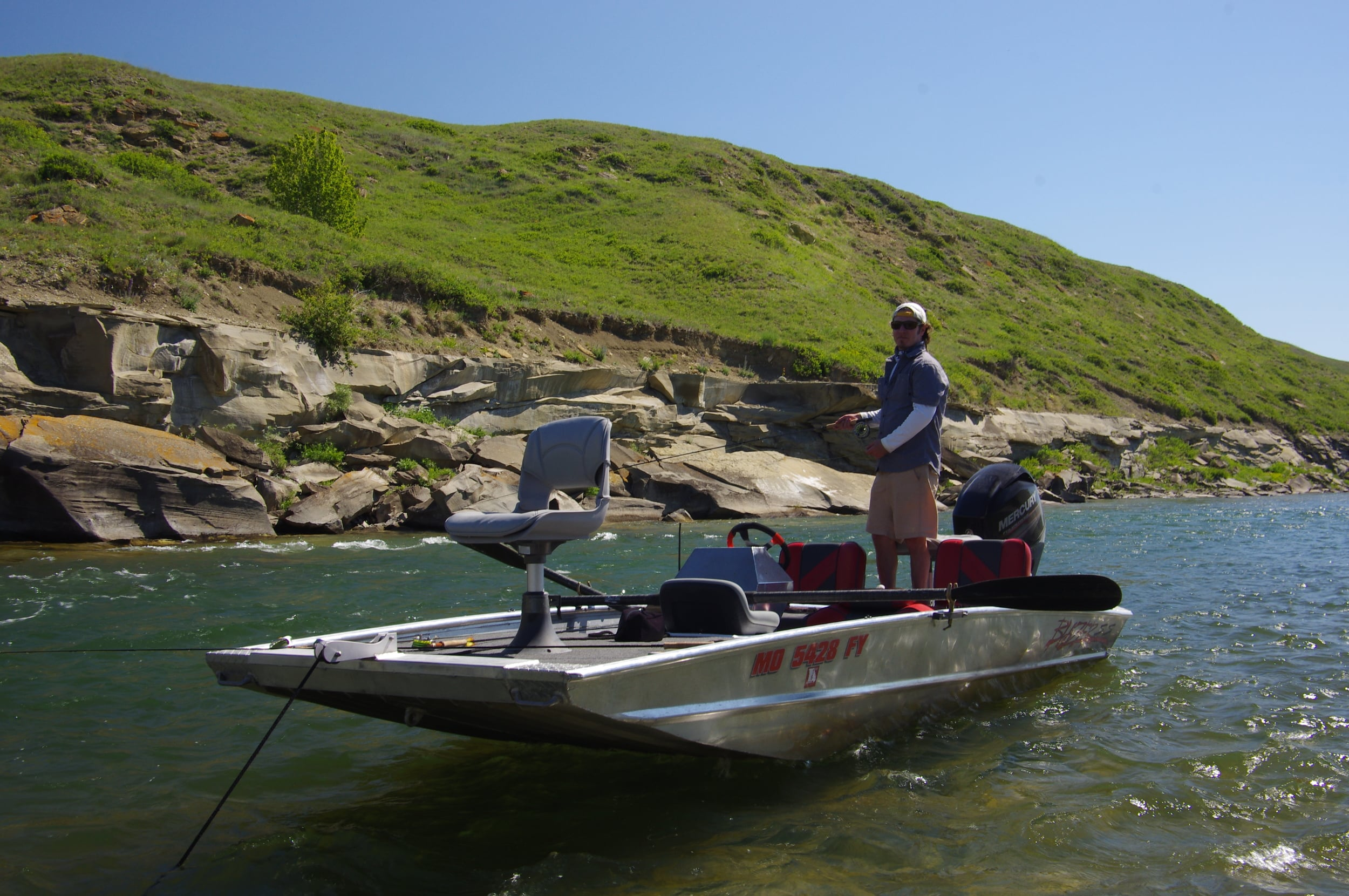 Out on the Oldman River in the pride of the fleet.