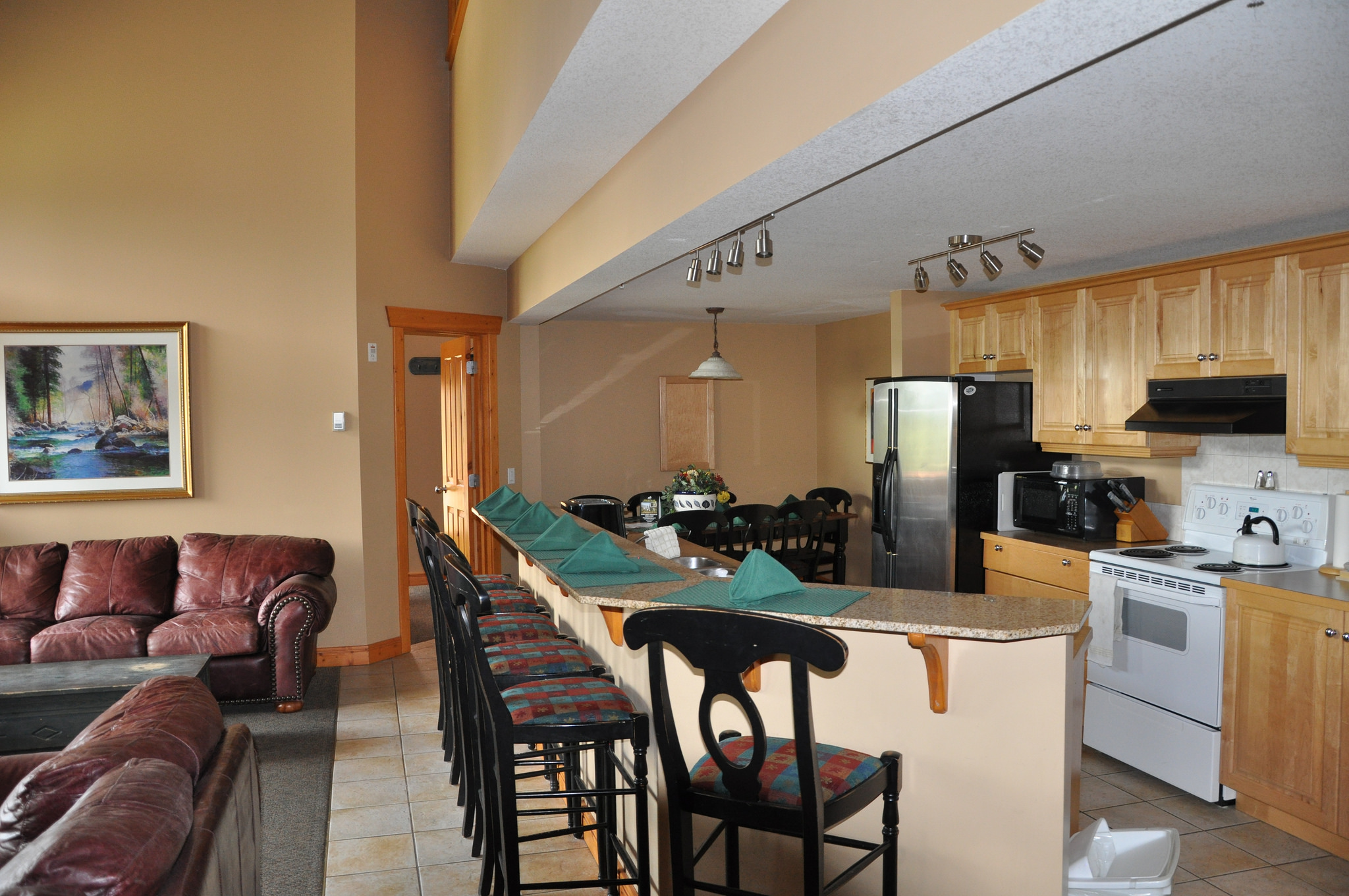 The 2 bedroom units are perfect for two guys or even two couples.