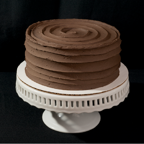 "Chocolatey Chocolate  Two layer chocolate cake with chocolate butter cream.  6"" (serves 8): $26  
