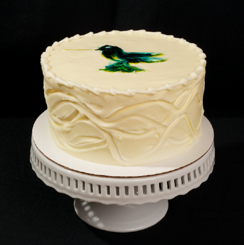 "Hummingbird  Banana pineapple pecan spice cake with cream cheese frosting.  6"" (serves 8): $31  