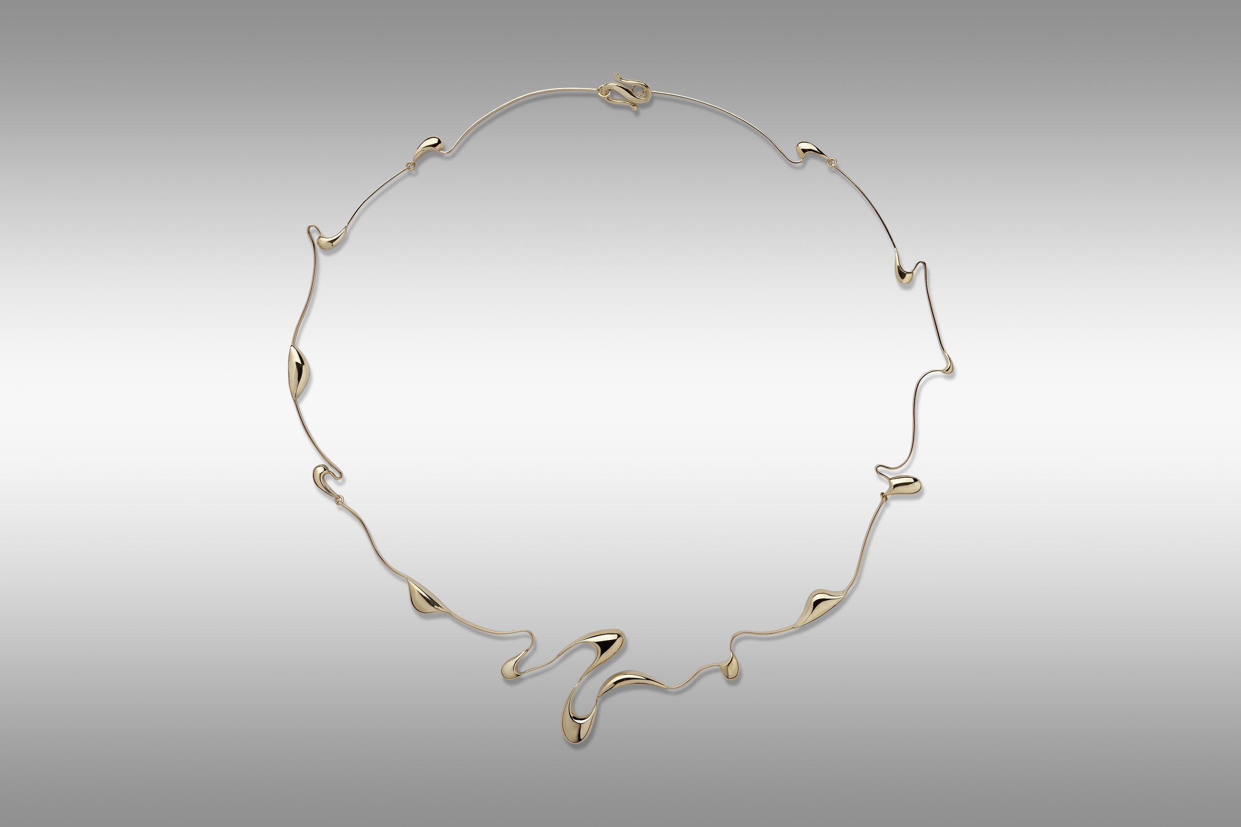 Fantasia yellow gold necklace 18ct.