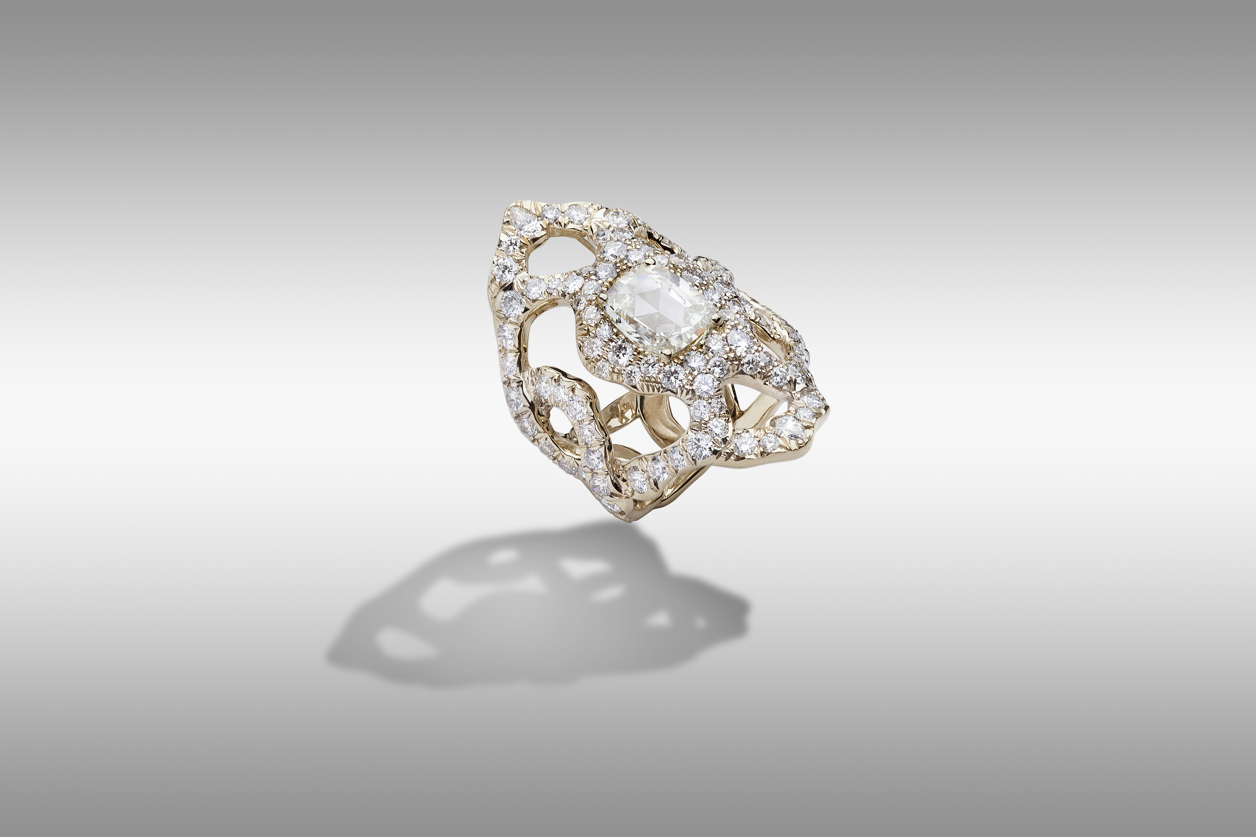 Rossella gray gold ring 18 ct. with diamonds