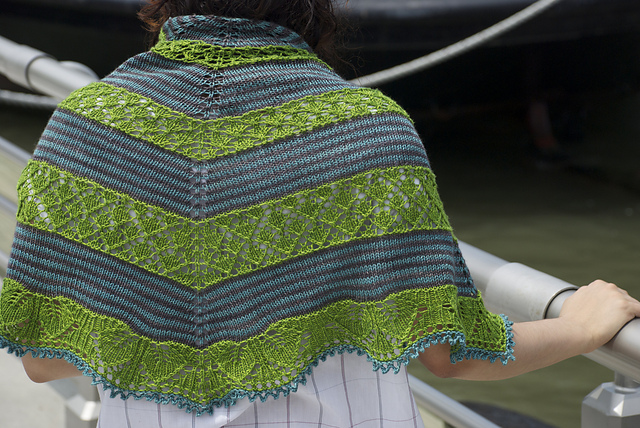 'Germinate' one of Kirsten's shawls from the annual Mystery KAL