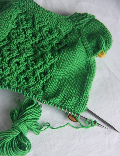 Knitting on the needles
