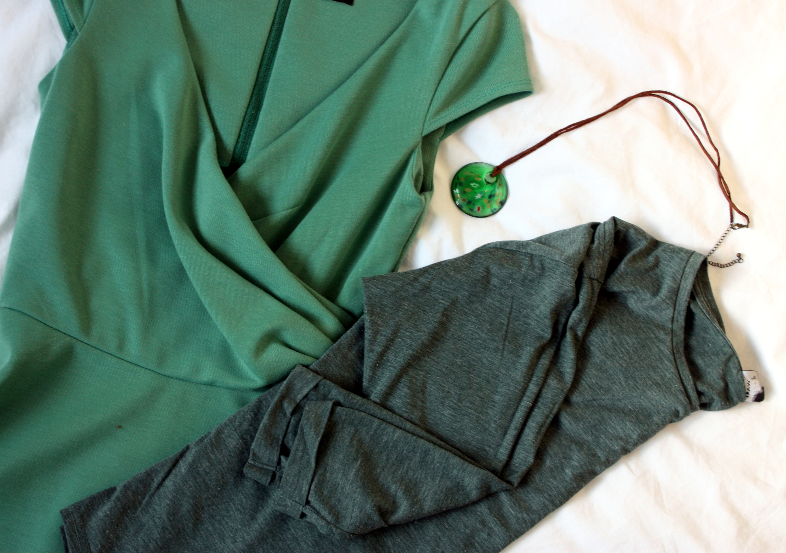 green clothes & accessories