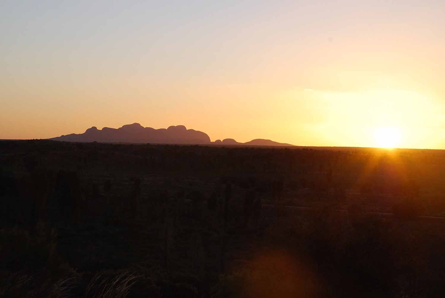 view from the Ghan- The Red Centre