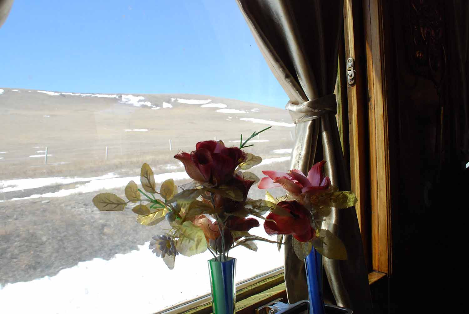 The Mongolian Steppe from the train