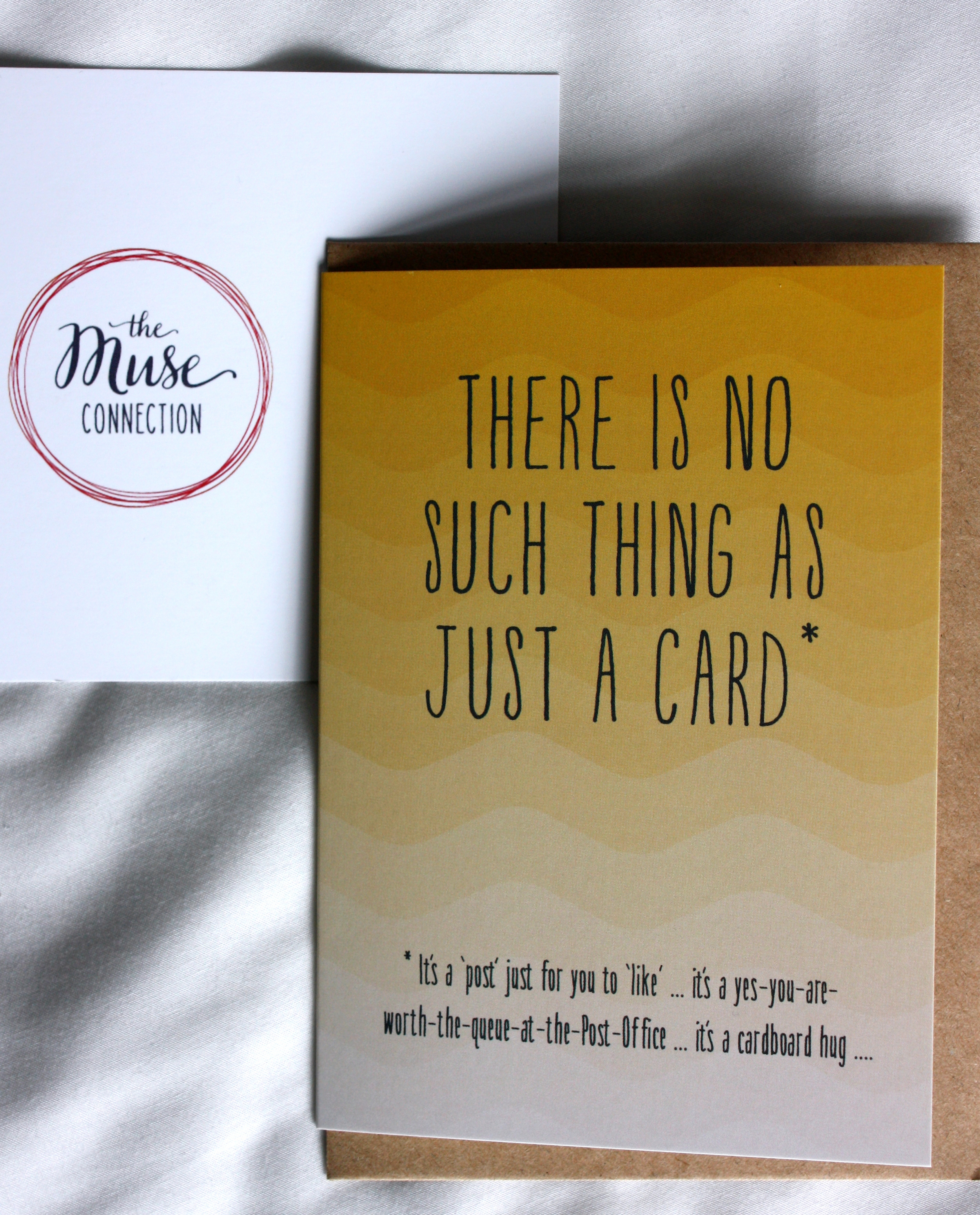 Our exclusive Volume 1 card designed by  Tilly Flop  in response to the 'Just a Card' campaign