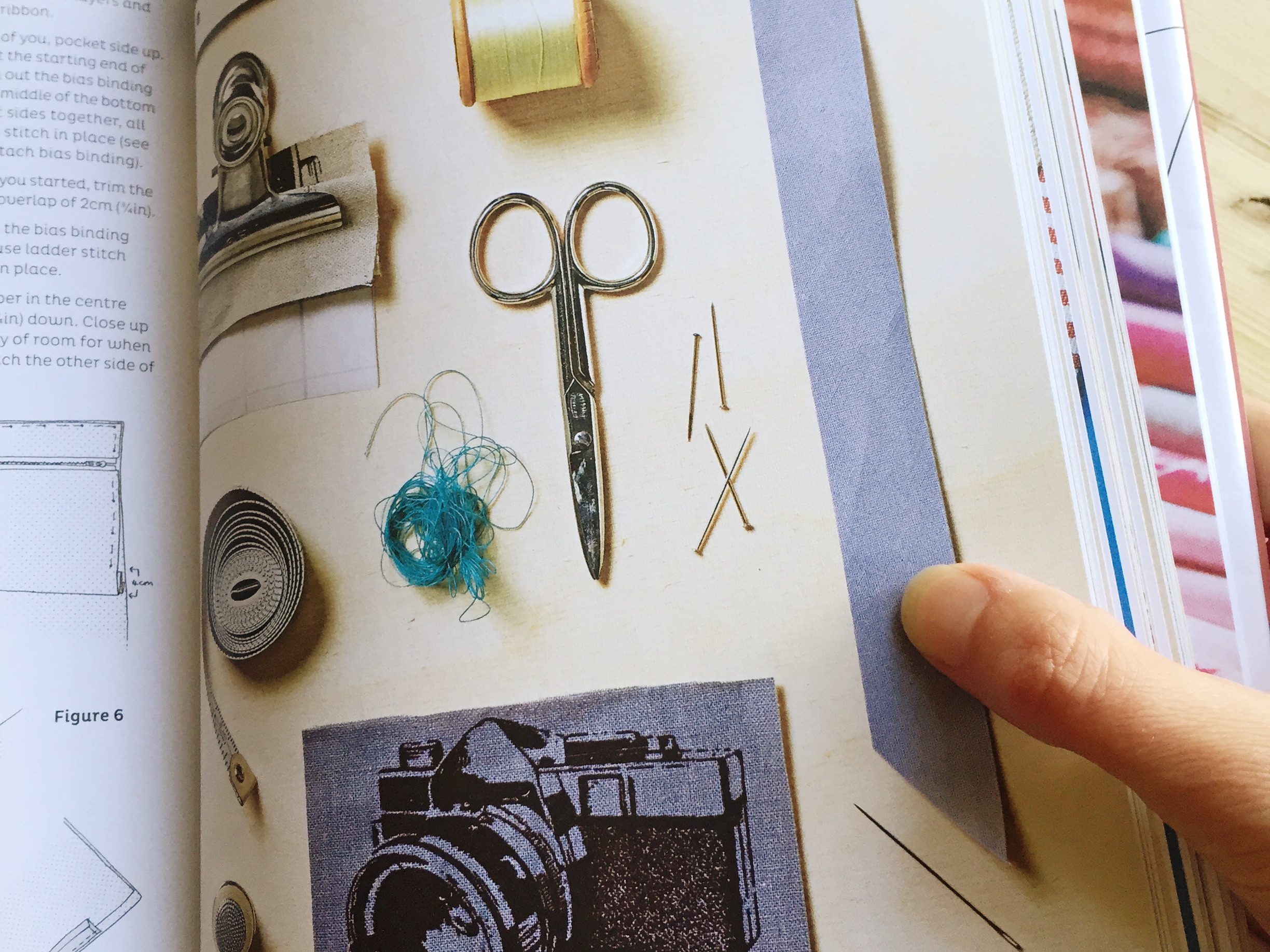 Beautiful styling inside this basic sewing book