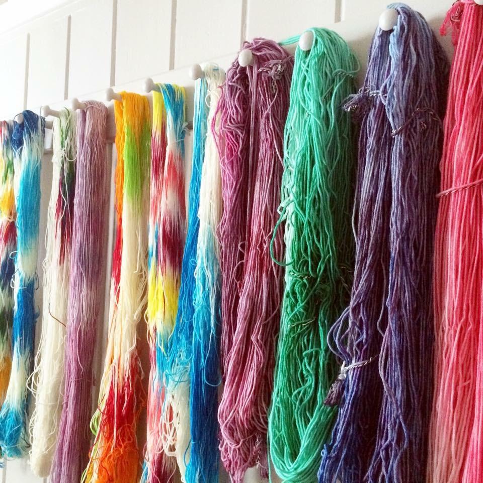 Yarns dyed at the retreats