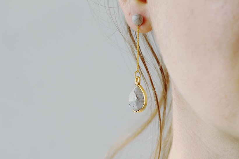 Fall For DIY Faux Labradorite drop earrings