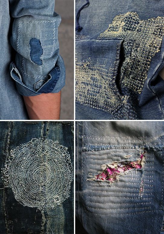 Sashiko example found  via Pinterest
