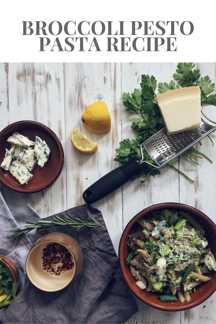 Broccoli Pesto Pasta recipe- a quick and healthy dish for your family