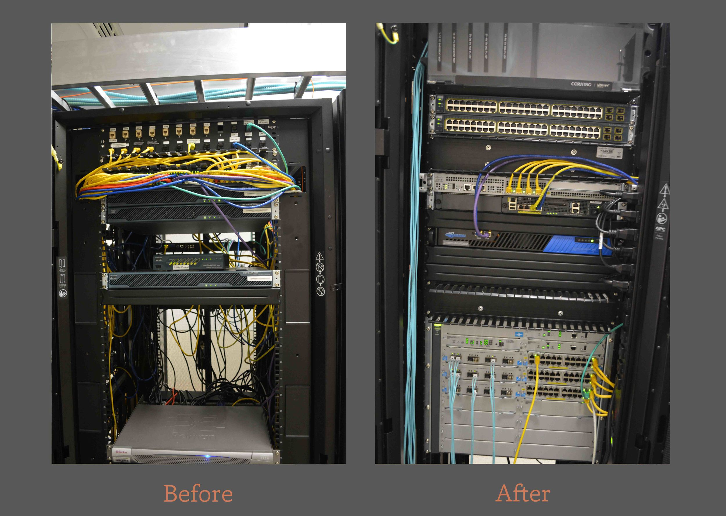 Core / Server Switch (Left) | New Core, read for installation (right)