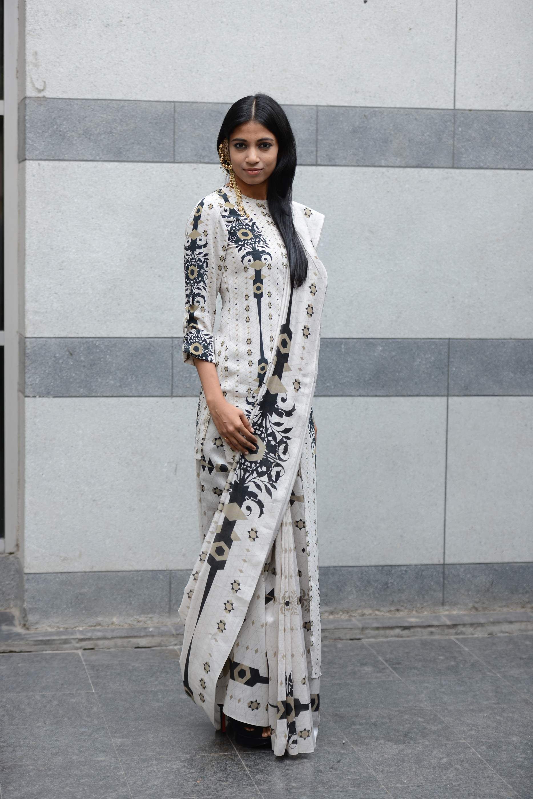 Bhagyashree Raut dressed in Lady Sahara by Payal Singhal