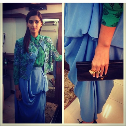 Sonam Kapoor in ILK with Zarin and Dhora accessories