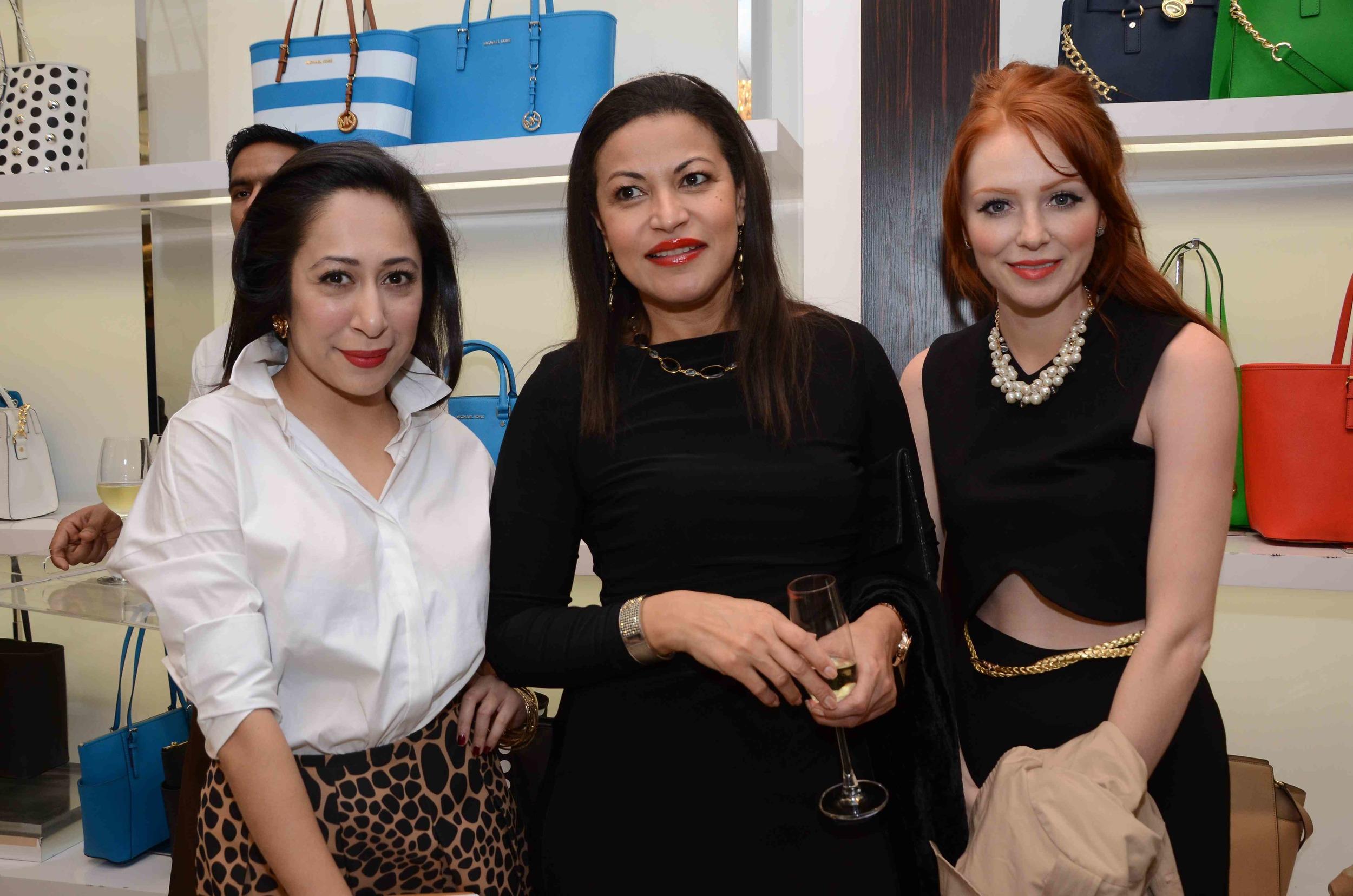 Nandini Bhalla, Thenny Mejia and Brandy Dallas