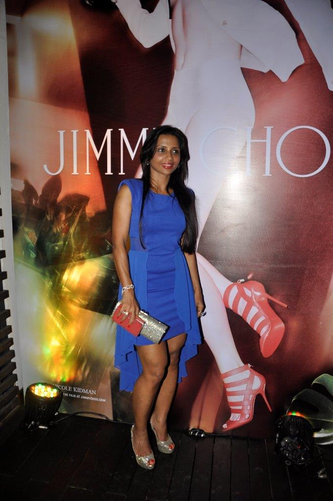 Dimple Nahar carrying the Jimmy Choo Charm and wearing the Jimmy Choo Crown shoes