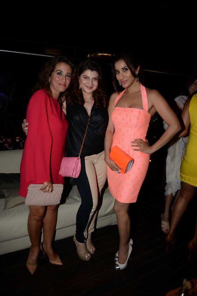 Perizaad Zorabian, Delna Poonawalla and Sophie Choudry
