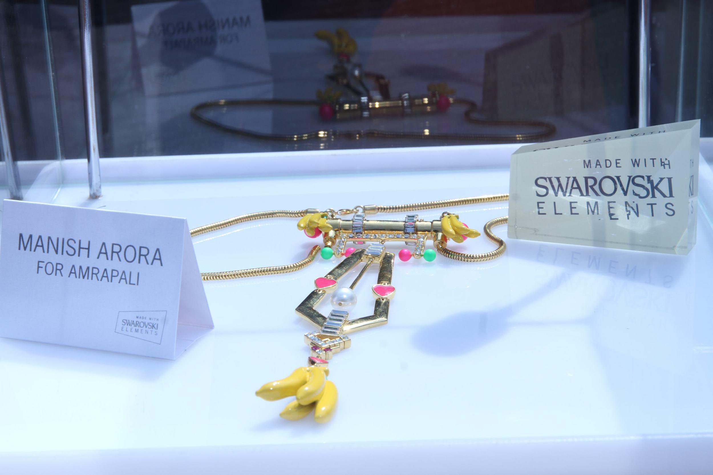 Manish Arora for Amrapali neckpiece made using Swarovski Elements