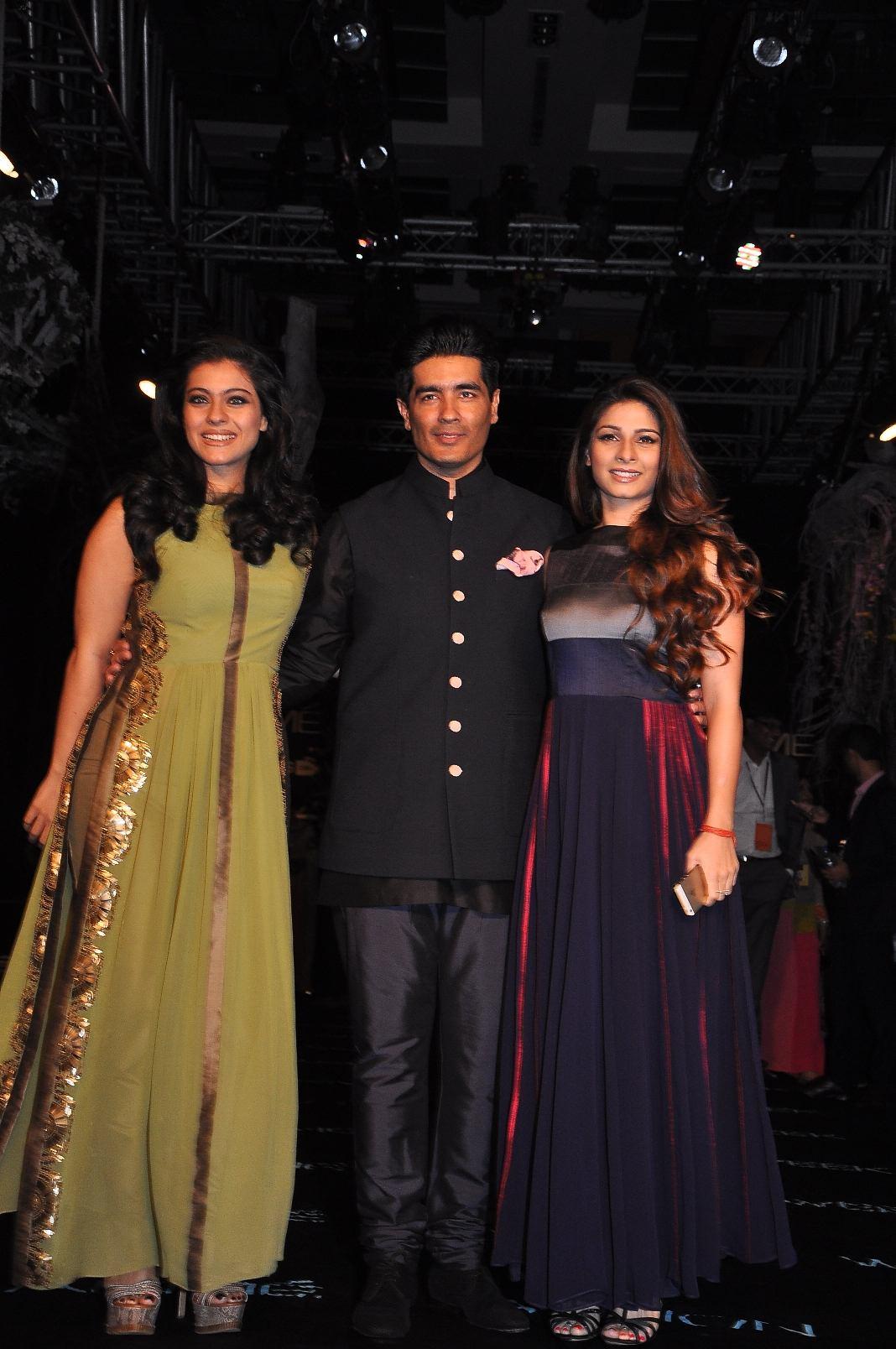Kajol, Manish Malhotra and Tanisha Mukherjee