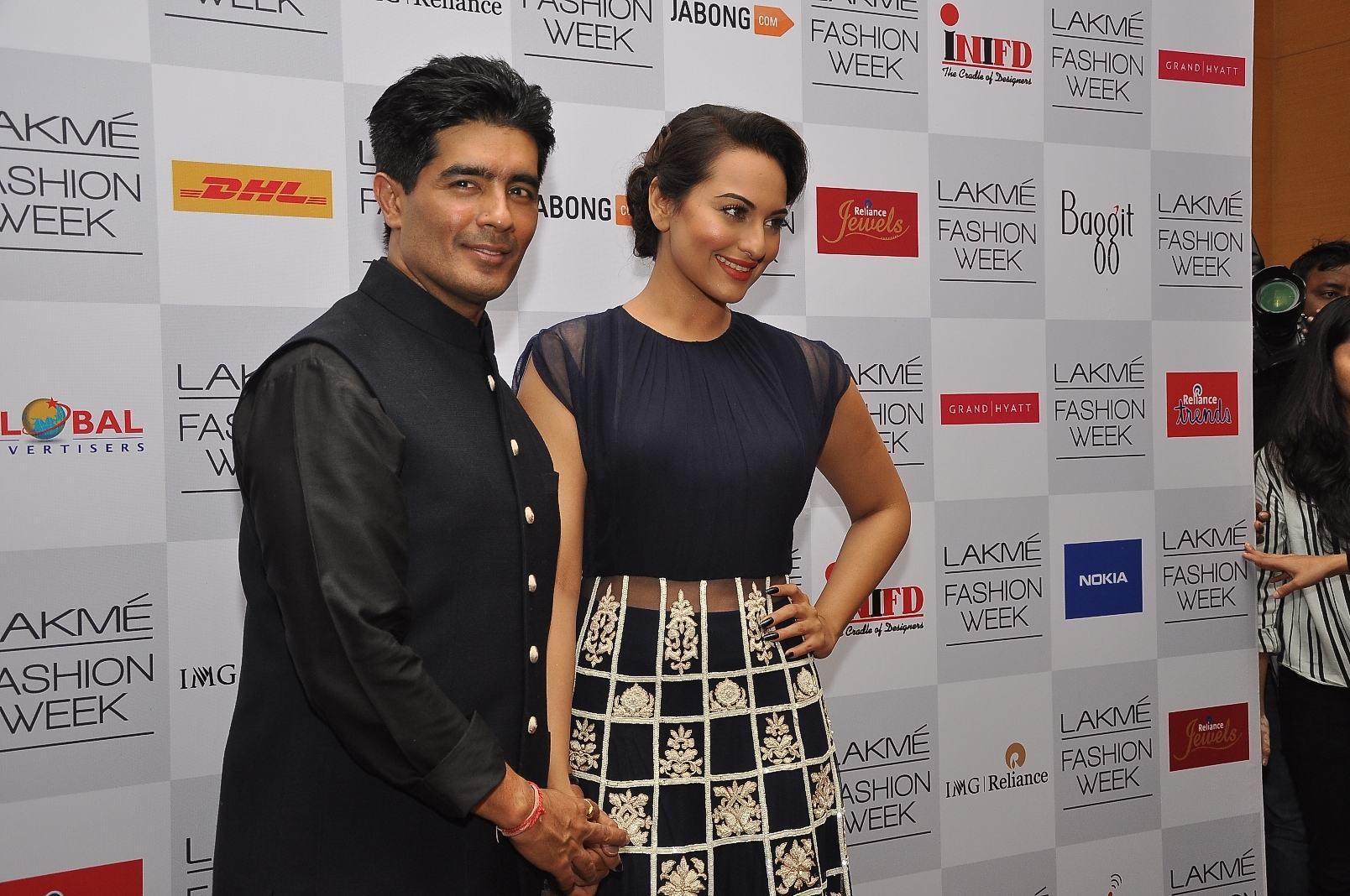 Manish Malhotra and Sonakshi Sinha