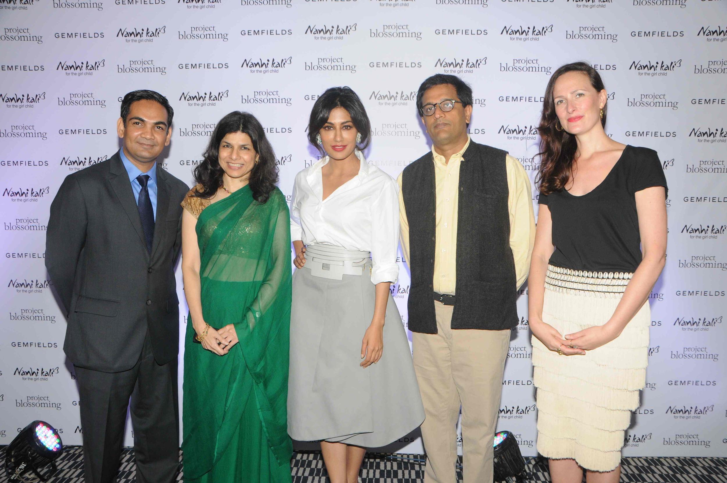 Rupak Sen, Gemfields, Sheetal Mehta, KCMET, Chitrangda Singh Project Blossoming Ambassador, Manoj Kumar, Naandi and Anna Haber