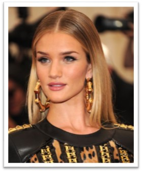 Rosie Huntington's straight locks